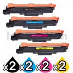 2 Sets of 4 Pack Brother TN-253 / TN-257 Compatible Toner Combo [2BK,2C,2M,2Y]