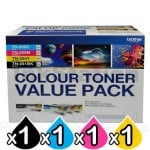 Brother TN-251 / TN-255 Genuine High Yield Toner Value Pack (N8AE00003)[BK+C+M+Y]