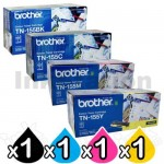 4 Pack Brother TN-155 Genuine Toner Combo[1BK,1C,1M,1Y]  (TN155 is High Capacity Version of TN150)