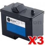 3 x Dell 720 A920 Black (T0529) Compatible Inkjet Cartridge