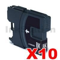 10 x Brother LC-39BK Compatible Black(High-Capacity) - 300 pages