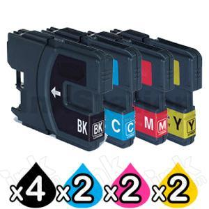 10 Pack Brother LC-39 Compatible Ink Combo [4BK,2C,2M,2Y]