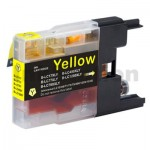 Brother LC73/LC77XLY Compatible Yellow High Yield Ink Cartridge - 1,200 pages