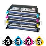 3 sets of 4 Pack Fuji Xerox Docuprint C3290FS Compatible Cartridge Set
