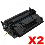 2 x Canon CART-052H High Yield Black Compatible Toner Cartridge - 9,200 pages