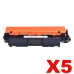 5 x HP CF230X (30X) Compatible Black High Yield Toner Cartridge - 3,500 Pages