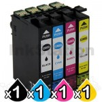 4 Pack Epson 288XL Compatible High Yield Inkjet Cartridges Combo [1BK,1C,1M,1Y]