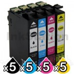 5 Sets of 4 Pack Epson 288XL Compatible High Yield Inkjet Cartridges Combo [5BK,5C,5M,5Y]