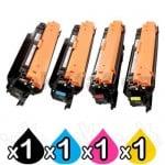 4 Pack HP 655A (CF450A-CF453A) Compatible Toner Cartridges [1BK,1C,1M,1Y]