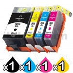 4 Pack HP 905XL Compatible High Yield Inkjet Combo T6M05AA - T6M17AA [1BK,1C,1M,1Y]