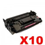 10 x HP CF287X (87X) Compatible Black Toner Cartridge - 18,000 Pages