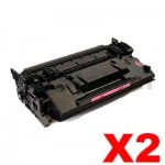 2 x HP CF287X (87X) Compatible Black Toner Cartridge - 18,000 Pages
