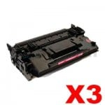3 x HP CF287X (87X) Compatible Black Toner Cartridge - 18,000 Pages