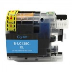 Compatible Brother LC-135XLC Cyan Ink Cartridge - 1,200 Pages