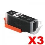 3 x Canon PGI-680XXLBK Extra High Yield Compatible Black Inkjet Cartridge - 600 pages