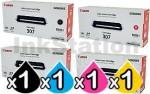 4 Pack Genuine Canon LBP5000 LBP5100 (CART-307B,C,M,Y) Toner Cartridges [1BK,1C,1M,1Y]