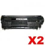 2 x Canon CART-303 Black Compatible Toner Cartridge 2,000 Pages