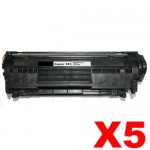 5 x Canon CART-303 Black Compatible InkStation.com.au Toner Cartridge 2,000 Pages