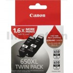 Canon PGI-650XLBK Twin Pack Genuine Black High Yield Inkjet Cartridge [2BK]