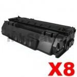 8 x Canon CART-308 Black Compatible Toner Cartridge 2,500 Pages