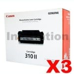 3 x Canon CART-310II Black Genuine Toner Cartridge 12,000 Pages