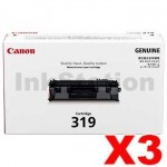 3 x Canon CART-319 Black Genuine Laser Toner Cartridge 2,100 pages