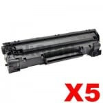 5 x Canon CART-326 Black Compatible Toner Cartridge 2,100 pages