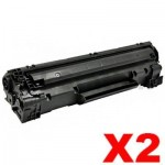 2 x Canon CART-328 Black Compatible Toner Cartridge 2,100 pages