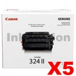 5 x Genuine Canon CART-324II High Yield Toner Cartridge - 12,500 pages