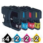 10 Pack Compatible Brother LC-139XLBK + LC-135XLC/M/Y Ink Cartridge Set [4BK,2C,2M,2Y]