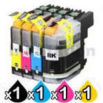 4 Pack Brother LC-233 Compatible Ink Cartridges [1BK,1C,1M,1Y]