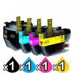 4 Pack Brother LC-3319XL Compatible Ink Cartridges Combo (High Yield of Brother LC-3317) [1BK, 1C, 1M, 1Y]