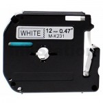 Brother M-K231 Compatible 12mm Black Text on White Tape - 8 meters