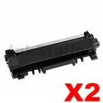 2 x Brother TN-2450 With CHIP High Yield Compatible Toner Cartridge - 3,000 pages
