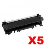 5 x Brother TN-2450 With CHIP High Yield Compatible Toner Cartridge - 3,000 pages