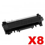 8 x Brother TN-2450 With CHIP High Yield Compatible Toner Cartridge - 3,000 pages