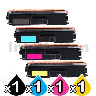 4-Pack Brother TN-446 Compatible Toner Combo [1BK,1C,1M,1Y]