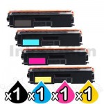 4-Pack Brother TN-443 Compatible Toner Combo [1BK,1C,1M,1Y]
