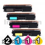 5-Pack Brother TN-443 Compatible Toner Combo [2BK,1C,1M,1Y]