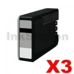 3 x Canon PGI-2600XLBK Compatible Black High Yield Ink Cartridge - 2,500 pages