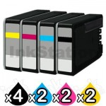 10 Pack Canon PGI-2600XL Compatible High Yield Ink Cartridge [4BK,2C,2M,2Y]