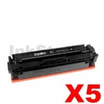 5 x Compatible Canon CART-046BKH Black High Yield Toner Cartridge - 6,300 pages