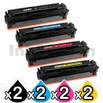 2 Sets of 4-Pack Compatible Canon CART-046H High Yield Toner Combo [2BK+2C+2M+2Y]