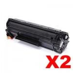 2 x Compatible Canon CART-337 Black Toner Cartridge - 2,100 pages