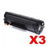 3 x Compatible Canon CART-337 Black Toner Cartridge - 2,100 pages
