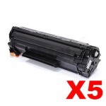 5 x Compatible Canon CART-337 Black Toner Cartridge - 2,100 pages