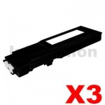 3 x Dell C2660dn / C2665dnf Compatible Black Toner Cartridge - 6,000 pages