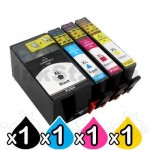 4 Pack HP 909XL BK & 905XL C,M,Y Compatible High Yield Inkjet Combo T6M21AA, T6M05AA, T6M09AA, T6M13AA [1BK,1C,1M,1Y]