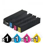 4 Pack HP 981A Compatible Inkjet Combo J3M71A - J3M68A [1BK,1C,1M,1Y]