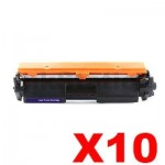 10 x HP CF217A (17A) Compatible Black Toner Cartridge - 1,600 Pages